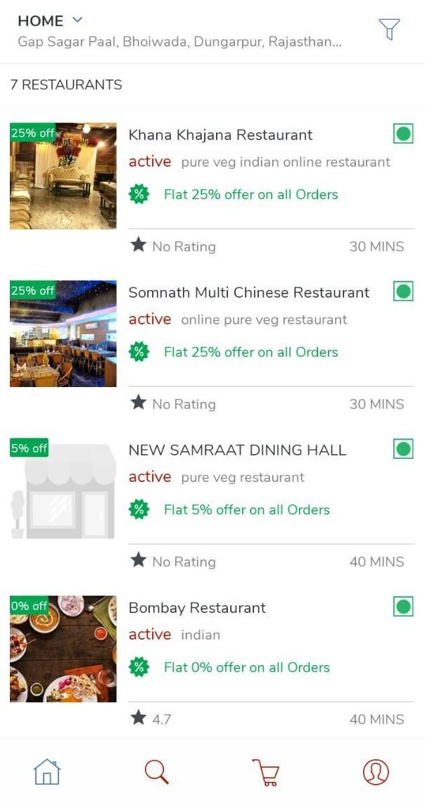 Online Food Delivery Android App